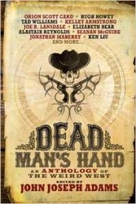 Cover of Dead Man's Hand anthology of weird tales.