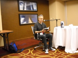 Rajan Khanna does a reading of his new zombie book, Falling Skies, at World Fantasy Convention 2014 on Thursday October 6th.