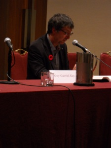 "Guy Gavriel Kay reading from ""The Summer Tree"" at WFC 2014."