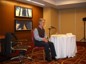 Stephen R Donaldson reads from his unpublished manuscript.